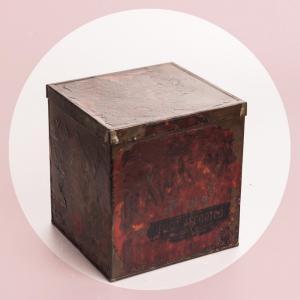Antigua caja de galletas de...