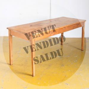 Mesa de madera de pino,...