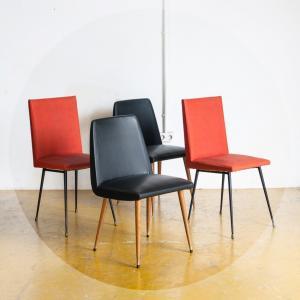 Conjunto de 4 sillas...