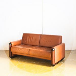 Sofá vintage. Piel y...