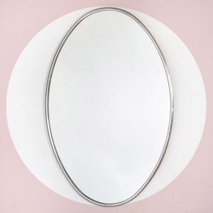 Espejo oval con marco,...