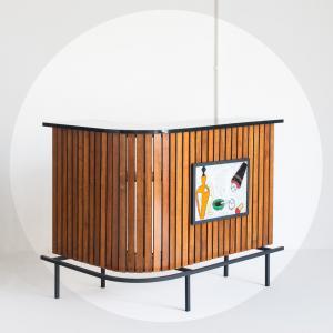 Mueble bar madera de roble....