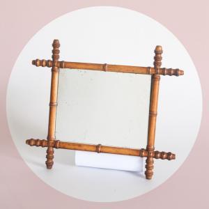 Espejo vintage de madera...