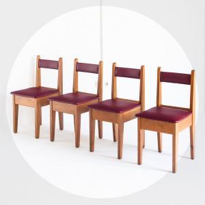 Conjunt de cadires fusta i...
