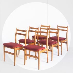 Conjunto de seis sillas...